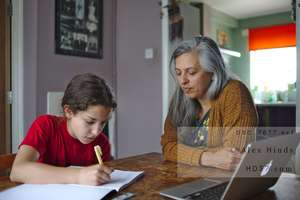 home schooling stock photo