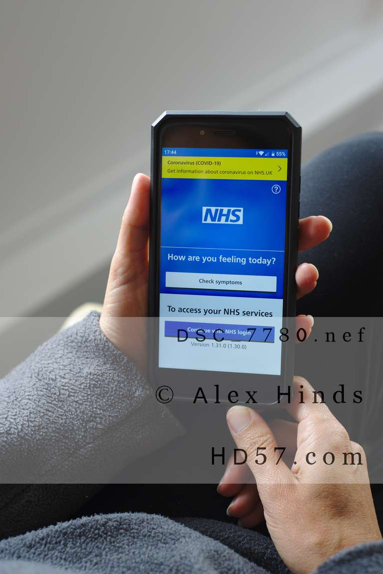NHS Health care app on smartphone